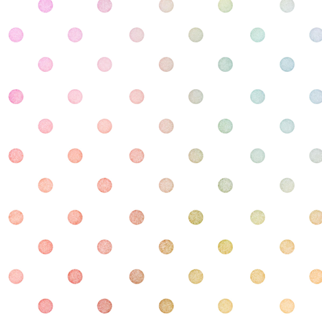 Pastel Rainbow Watercolor Dots Pattern fabric by raccoongirl on Spoonflower - custom fabric