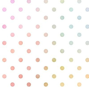 Pastel Rainbow Watercolor Dots Pattern