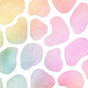 Pastel Rainbow Watercolor Giraffe Pattern
