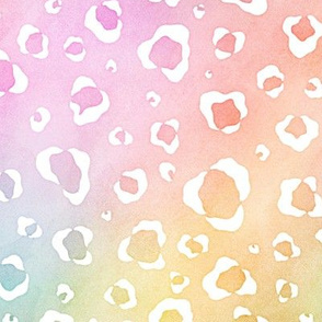 Pastel Rainbow Watercolor Leopard Pattern 2