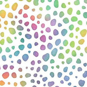 Bright Rainbow Watercolor Cheetah Pattern