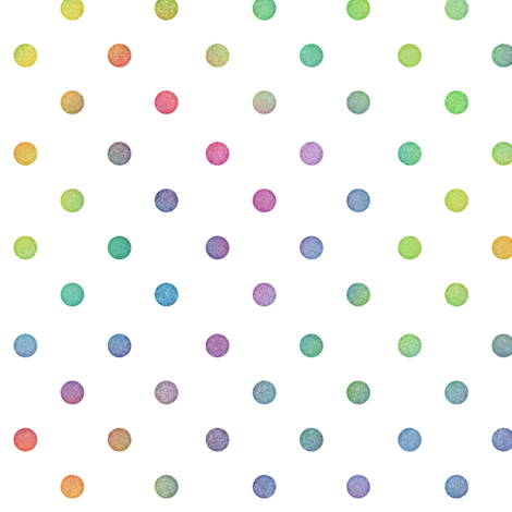 Bright Rainbow Watercolor Dots Pattern fabric by raccoongirl on Spoonflower - custom fabric