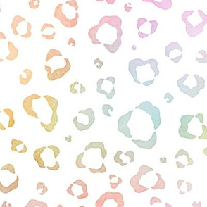 Pastel Rainbow Watercolor Leopard Pattern