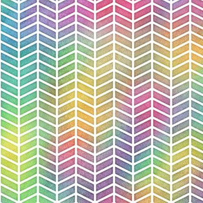 Bright Rainbow Watercolor Herringbone Pattern 2