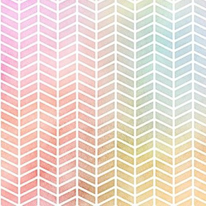 Pastel Rainbow Watercolor Herringbone Pattern 2
