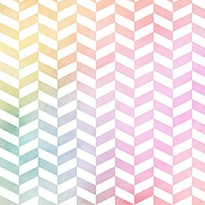 Pastel Rainbow Watercolor Herringbone Pattern 1