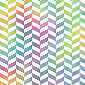 Bright Rainbow Watercolor Herringbone Pattern 1