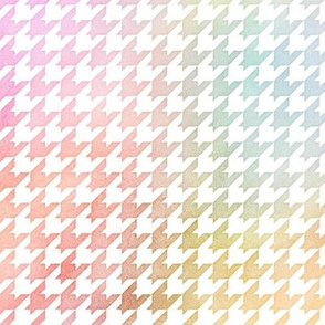 Pastel Rainbow Watercolor Houndstooth Pattern