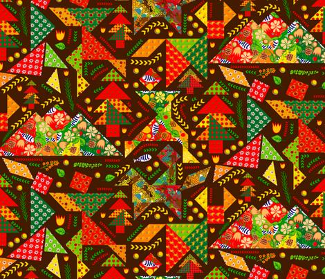 Ozark Mountain Dancers fabric by orangefancy on Spoonflower - custom fabric