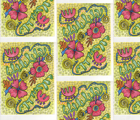 Pretty Posies fabric by dollydimpledesigns on Spoonflower - custom fabric