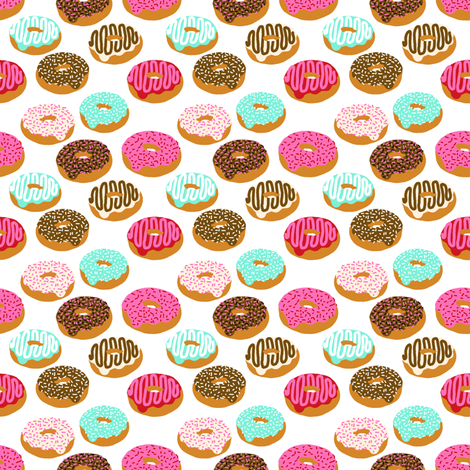 donuts mini print fabric by charlottewinter on Spoonflower - custom fabric