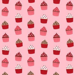 valentines cupcake coordinate - pink