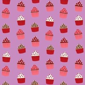 valentines cupcake coordinate - purple