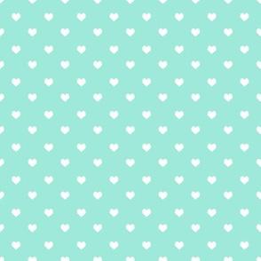 valentines hearts coordinate - aqua