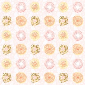 Spring Floral - peach, pink, gold, & white