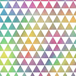 Bright Rainbow Watercolor Triangles Pattern