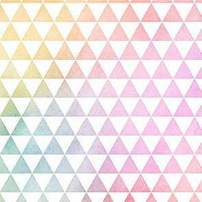Pastel Rainbow Watercolor Triangles Pattern