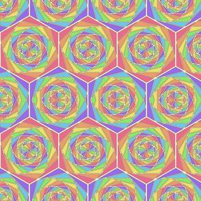 Rainbow Swirl Hex