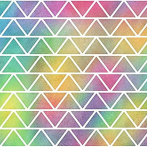 Bright Rainbow Watercolor Fat Triangle Pattern