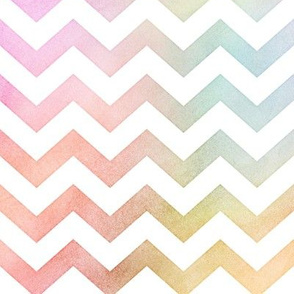 Pastel Rainbow Watercolor Chevron Pattern 1