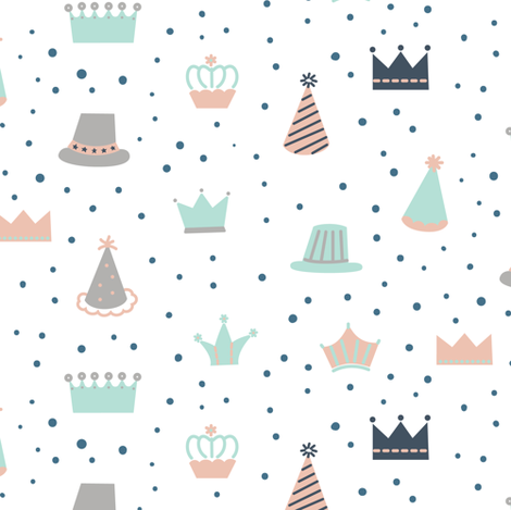 Party Hats fabric by lemonni on Spoonflower - custom fabric
