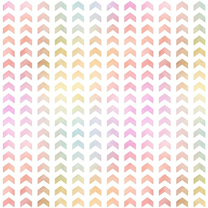 Pastel Rainbow Watercolor Split Chevron Pattern 2