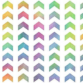 Bright Rainbow Watercolor Split Chevron Pattern 2