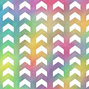 Bright Rainbow Watercolor Split Chevron Pattern 1