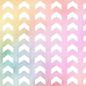 Pastel Rainbow Watercolor Split Chevron Pattern 1