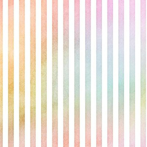 Pastel Rainbow Vertical Stripes Pattern 1