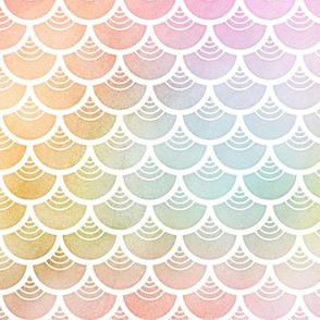 Pastel Rainbow Watercolor Scale Pattern 4