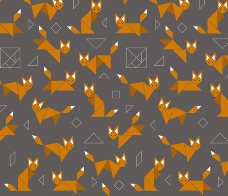 Boxy Foxy fabric by jenimp on Spoonflower - custom fabric