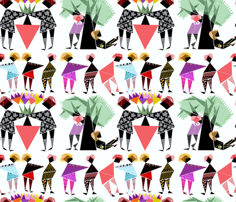 people puzzled fabric by abstracthands on Spoonflower - custom fabric
