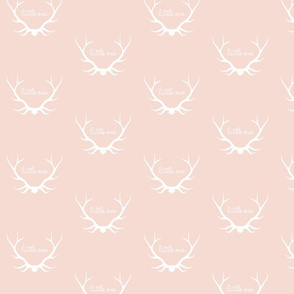 Little One Antlers - soft rose and white - woodland nursery
