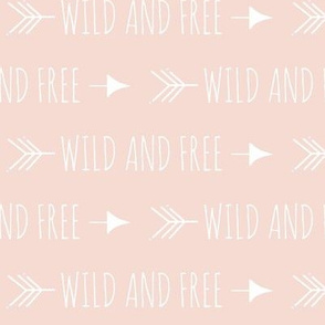 Wild and free arrows - pale peach