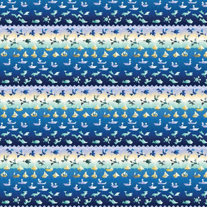 Tangram seascape