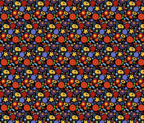 Bright colorful pattern on black background fabric by nadiia_nemchenko on Spoonflower - custom fabric