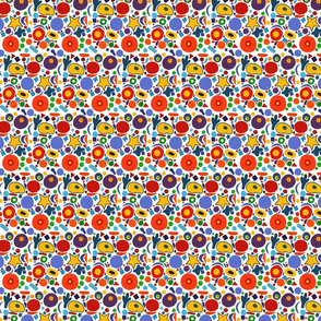 Bright colorful pattern on white background