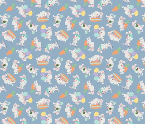 Easter Bunny Boys fabric by dorkydoodles on Spoonflower - custom fabric