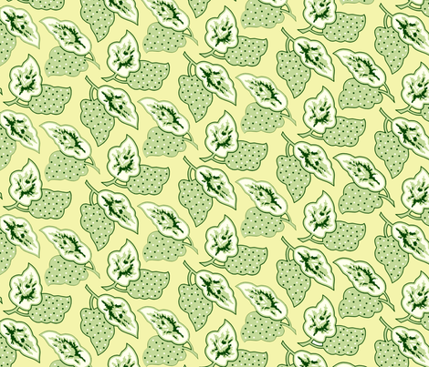 pointed_leaves_green fabric by wolfbirch on Spoonflower - custom fabric