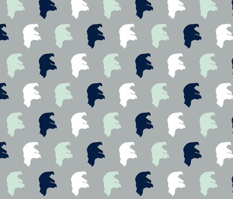 Multi Bear on grey // Northern Lights (90) fabric by littlearrowdesign on Spoonflower - custom fabric