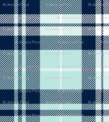 (micro print) fall plaid (blue, navy, white) || the bear creek collection