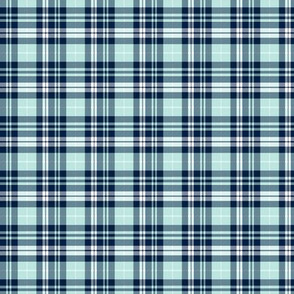 (micro print) fall plaid (blue, navy, white) || the bear creek collection