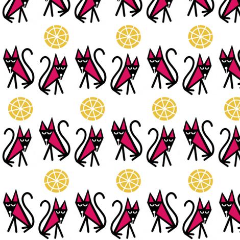 Two_Small_Town_Cats sewindigo fabric by sewindigo on Spoonflower - custom fabric