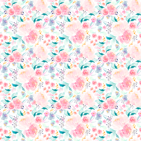 Indy Bloom Design Mermaid Lagoon A fabric by indybloomdesign on Spoonflower - custom fabric