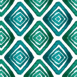 Big romb watercolor pattern