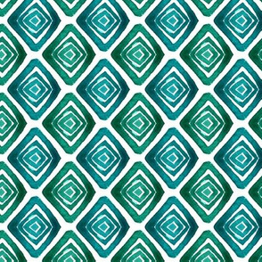 small rombus watercolor pattern by magic_pencil