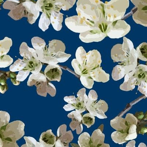 Almond Blossoms and Blue