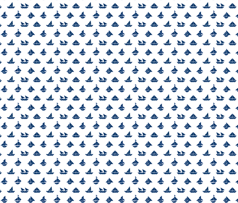 Sail Away in Navy fabric by brittany_vogt on Spoonflower - custom fabric