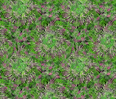 Whorled Cannabis fabric by camomoto on Spoonflower - custom fabric